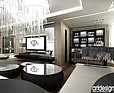 ARTDESIGN Projekt wnętrza domu - salon z jadalnią